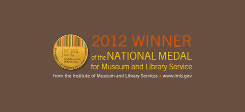 The Shaler North Hills Library has been named a 2012 National Medal winner for Museums and Library Service from the Institute of Museum and Library Services.